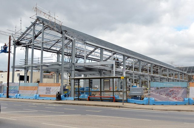 The Glass Yard is one of the many schemes progressing in the Chesterfield area despite the pandemic.