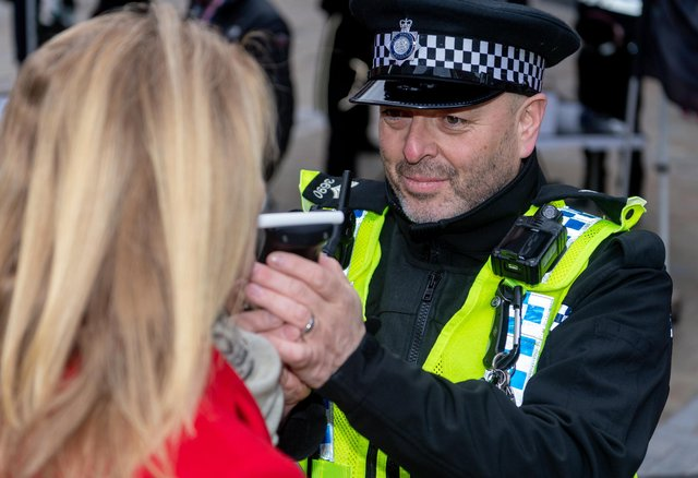 A test revealed she had 81 mcgs of alcohol in 100 mls of breath when the legal limit is 35 mcgs. Image for illustration only.