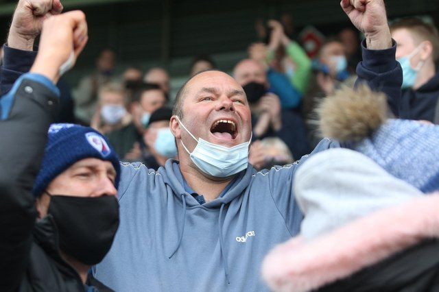 Fans returned to the Technique Stadium for the first time in 14 months on Saturday.