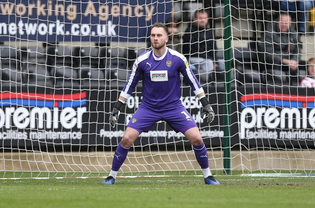 Former Chesterfield goalkeeper Ross Fitzsimons, pictured playing for Notts County, has joined Weymouth.