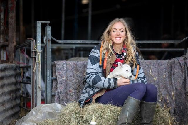 Farmer Joanna Shimwell at Dale Farm in Great Longstone.