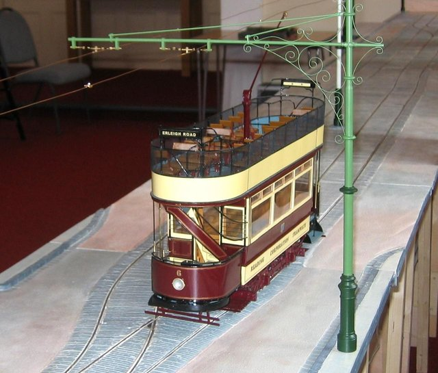 Reading model tram which will be on show at the exhibition at Crich Tramway Village