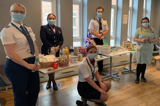 Airline and aviation staff helped healthcare workers at Chesterfield Royal Hospital enjoy a well-deserved break at the hospital's new wellness lounge.