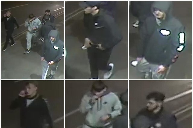A group of men are alleged to have assaulted two men in the car park at Long Eaton train station.