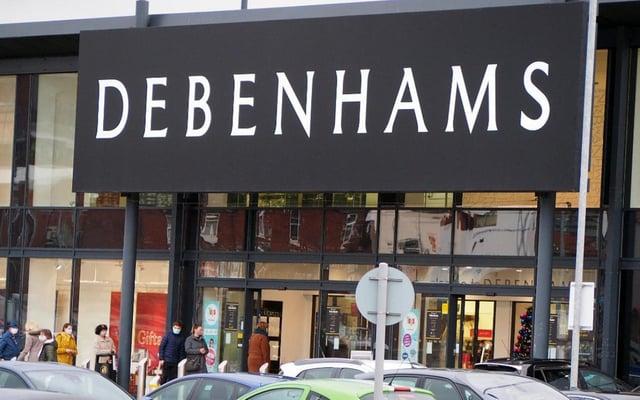 The former Debenhams store in Chesterfield.