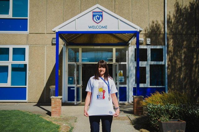Tracey Parker, a staff member at Kirk Hallam Community Academy,has brought back Ben's Den May Challenges