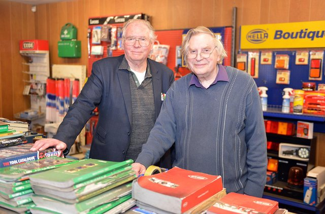 Chesterfiield firm Kirby and Sons are closing their business at the end of this month. John and Frederick Kirby.