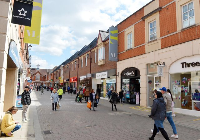 Footfall in Chesterfield town centre has been higher than normal since restrictions were eased.