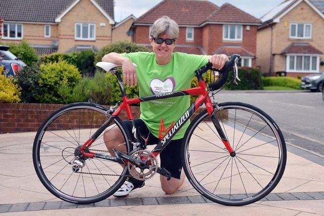 Jayne Lindley ahead of her charity challenge for Ashgate Hospicecare. Pictures by Brian Eyre.