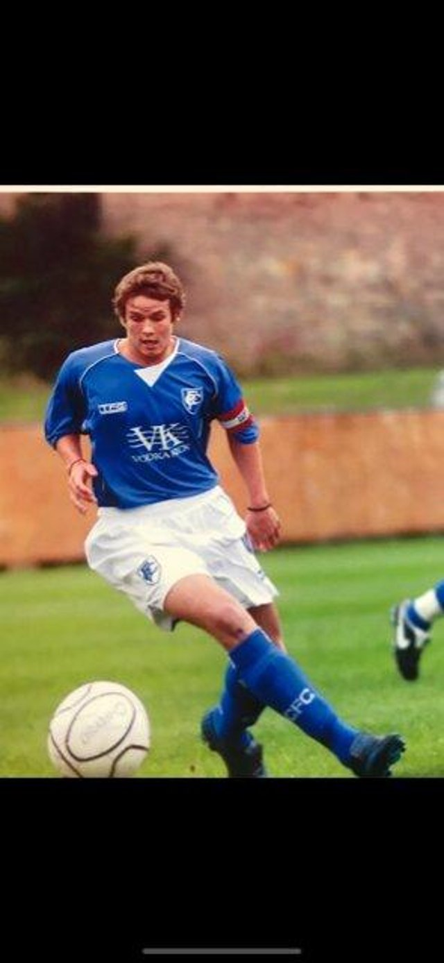 Anthony Jubb in action for Chesterfield's youth team.