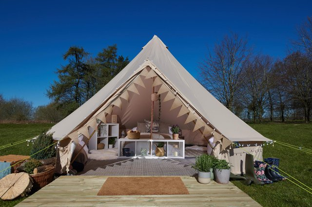 The pop-up glamping site at Chatsworth is fully booked for the 56-day season.