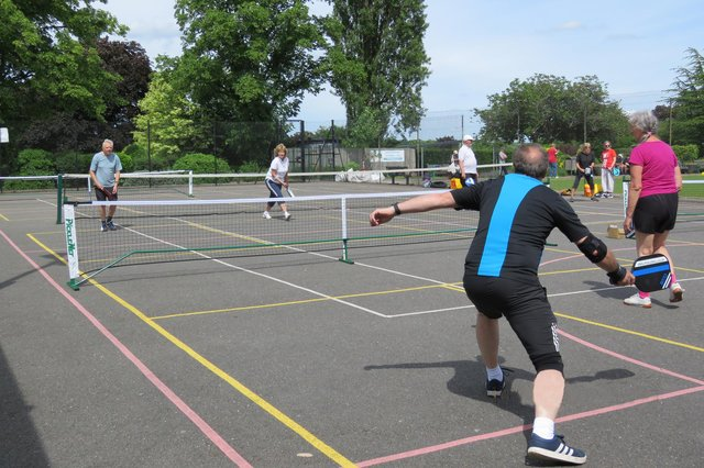 Chesterfield Pickleball Club players in action. All photos by Ian Walton.