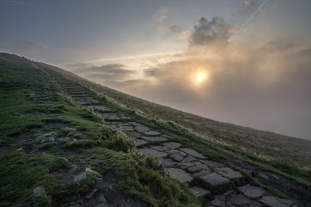 Dog Owner Jo Slater has issued a warning after her beloved pooch Sonny fell off the east face of Mam Tor