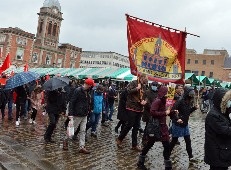 Chesterfield May Day March and Rally.