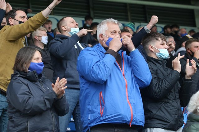 Fans returned to the Technique Stadium on Saturday for the first time in 14 months.