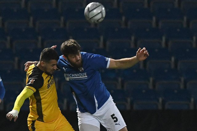 Spireites captain Will Evans is one of the players who is out of contract this summer.