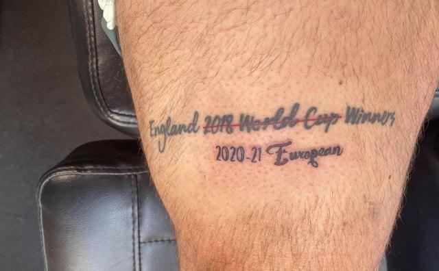 Lewis Franks Pearson's tattoo.