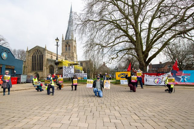 An anti-racism event took place in Chesterfield at the weekend. Picture by Karl Barton.