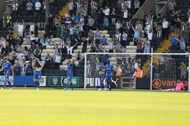 Chesterfield fell to a late defeat against Notts County in the play-off eliminator at Meadow Lane. Picture: Tina Jenner.