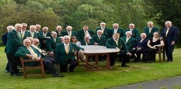 Alfreton Male Voice Choir with music director Terry Clay and accompanists Lisa Smith and Michael Anthony.