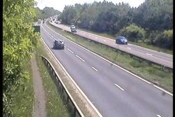 The A38 Soutbound in Derbyshire has now been reopened. Credit: Highways England.