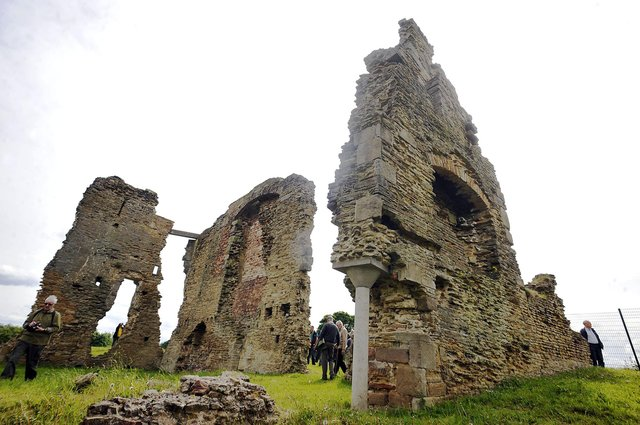 The ancient ruins of Codnor Castle.