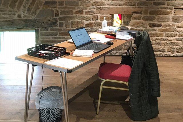 Workers are now able to rent a desk at Dronfield Hall Barn.