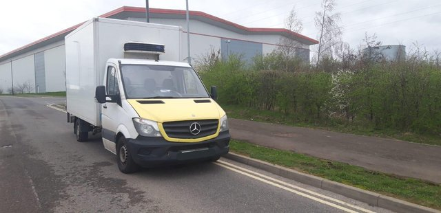 Police pulled over this van on the M1 because it was 'overweight'. Derbyshire RPU via Twitter.