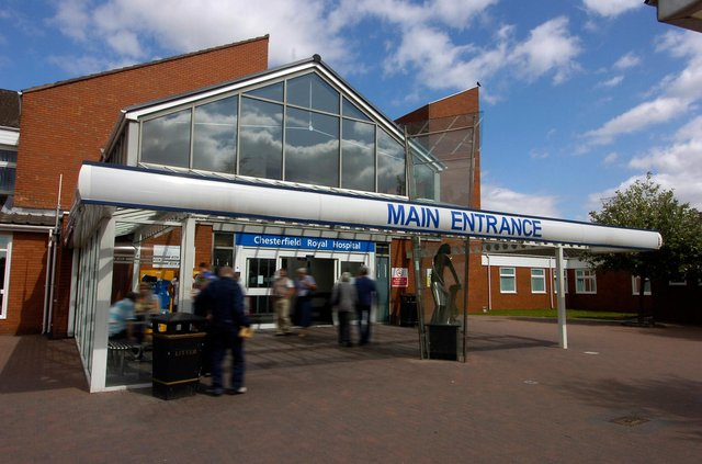 Chesterfield Royal Hospital's emergency department remains busy.