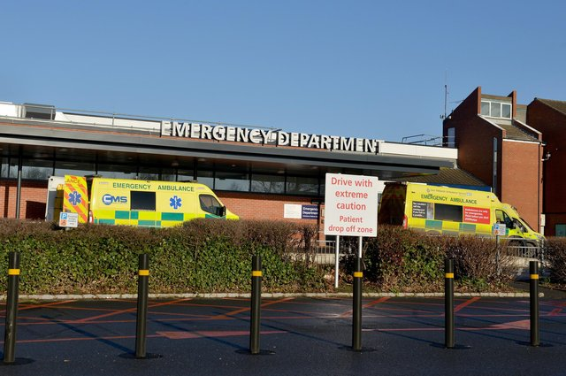Chesterfield Royal Hospital's Emergency Department has seen a surge in patients.