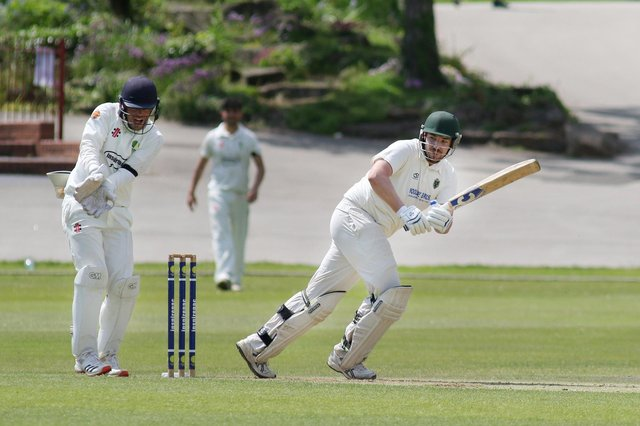 Tom Bullimore adds runs to the board for Eckington.