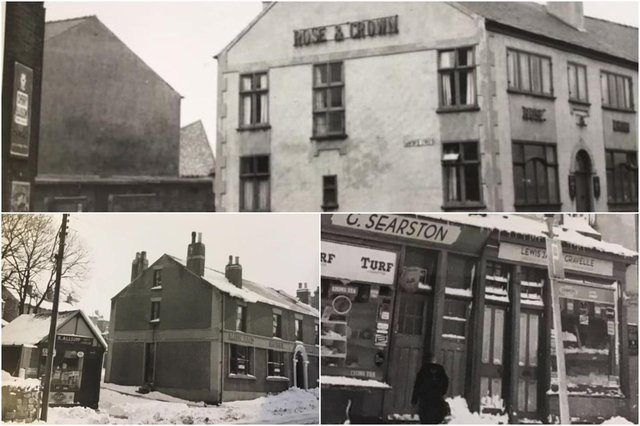 The Rose and Crown pub on Whittington Moor, Chesterfield, is now Glassworks and The Midland Hotel at Hepthorne Lane became The Shinnon pub. What happened to the off-licence at Clay Cross which is on the right of the montage?