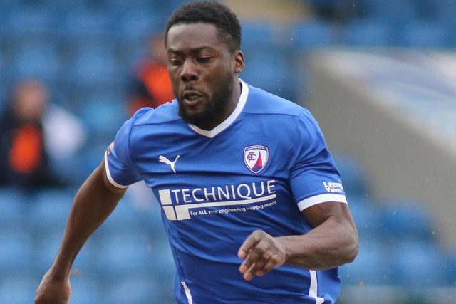 Akwasi Asante's hat-trick goal against Barnet has been voted Chesterfield's best of the season.